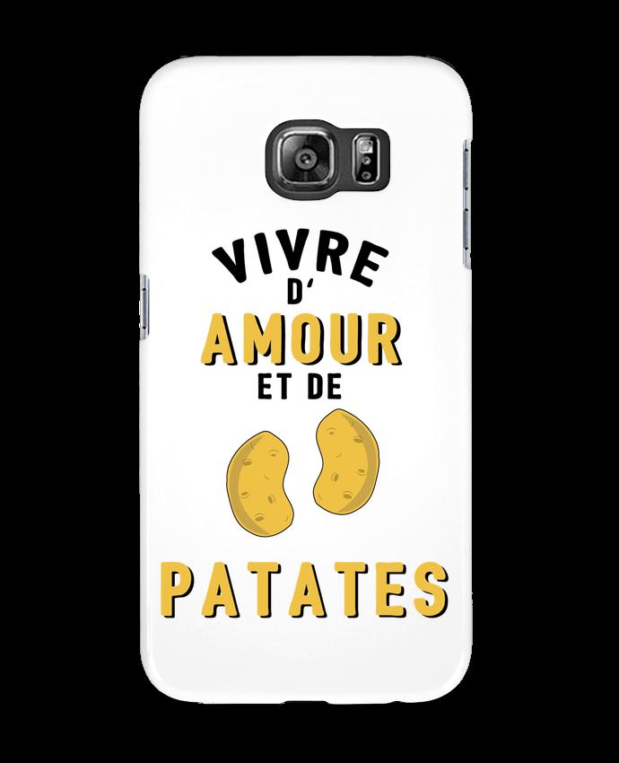 Coque 3D Samsung Galaxy S6 Vivre d'amour et de patates - tunetoo