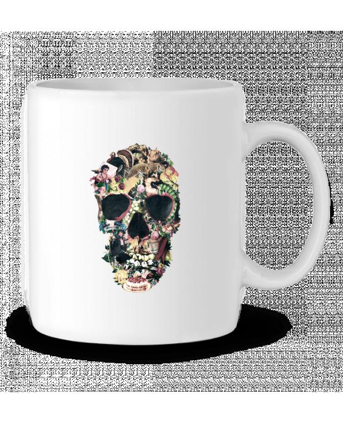 Mug en Céramique Vintage Skull par ali_gulec