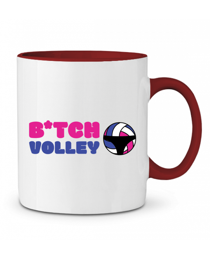 Mug en Céramique Bicolore B*tch volley tunetoo