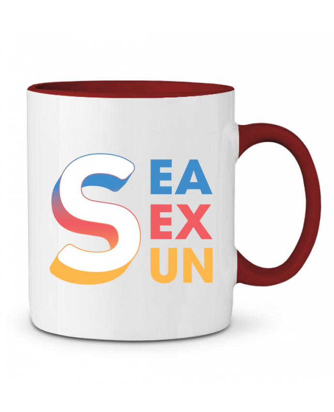 Mug en Céramique Bicolore Sea Sex Sun tunetoo