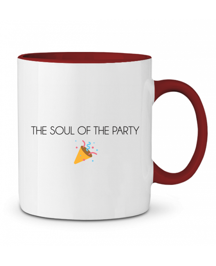 Mug en Céramique Bicolore The soul of the party basic tunetoo
