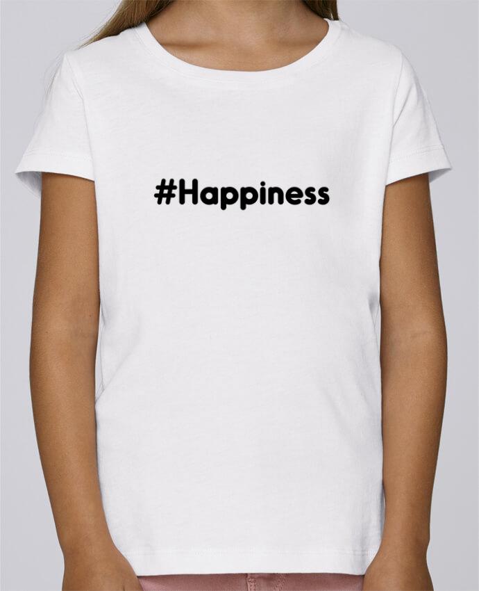 T-shirt Fille Mini Stella Draws #Happiness par tunetoo