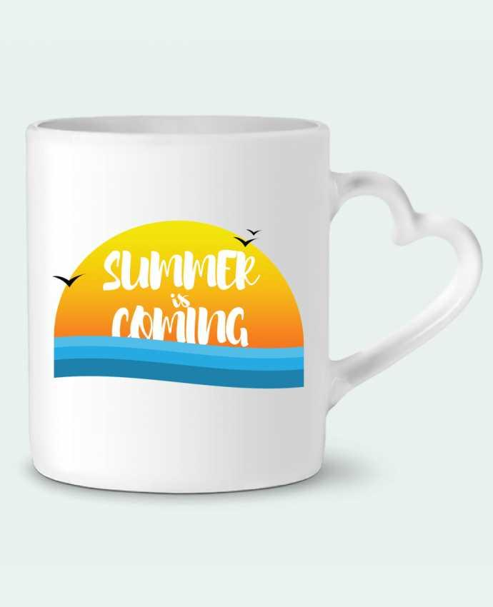 Mug Coeur Summer is coming par tunetoo