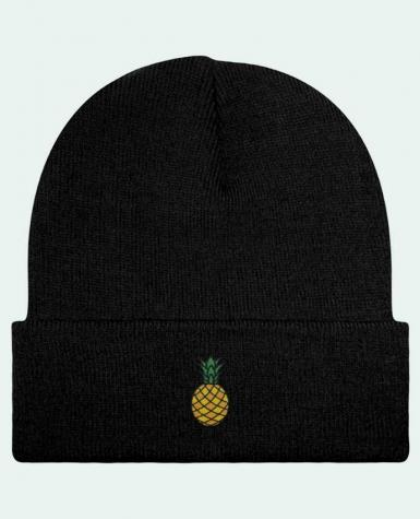 Bonnet Beanie à Revers Ananas orange par tunetoo