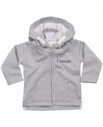 Sweat Bébé Zippé à Capuche l'amour by Ruuud par Ruuud
