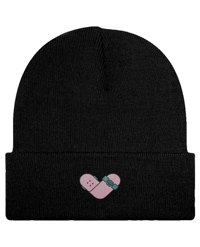 Bonnet Beanie à Revers Coeur skate par tunetoo