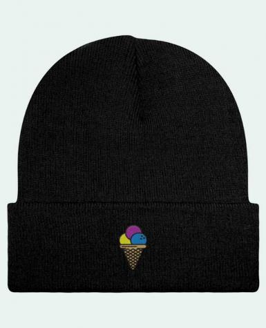 Bonnet Beanie à Revers Ice cream par tunetoo