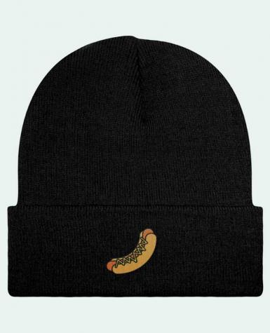 Bonnet Beanie à Revers Hot dog par tunetoo