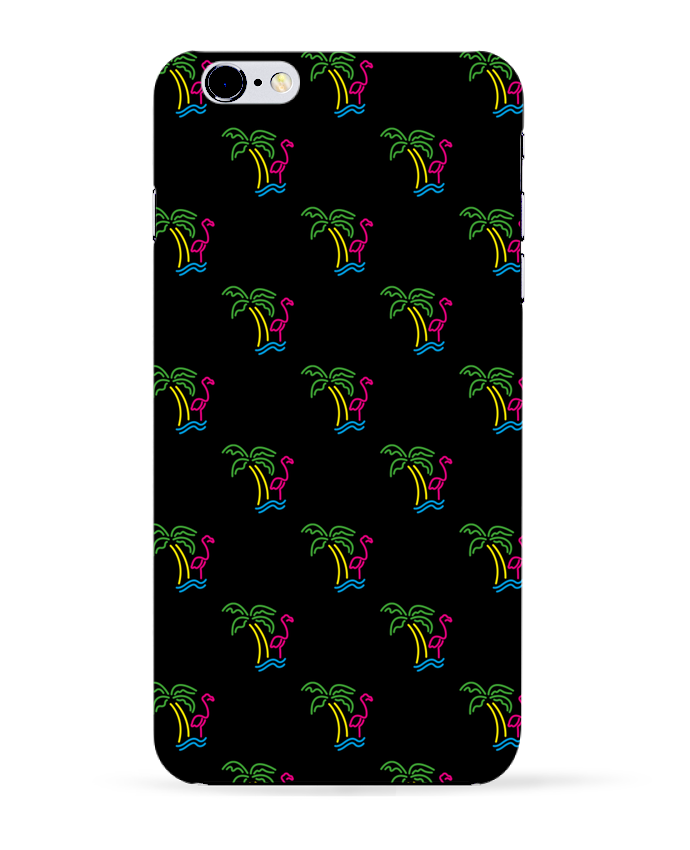 Coque 3D Iphone 6+ Island Flamingo de tunetoo