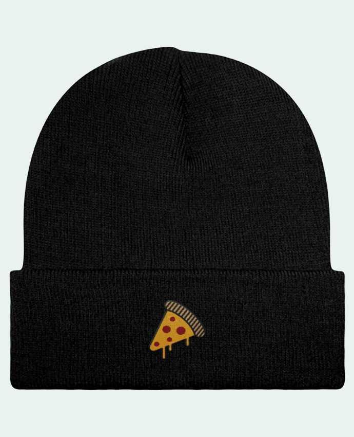 Bonnet Beanie à Revers Pizza slice par tunetoo