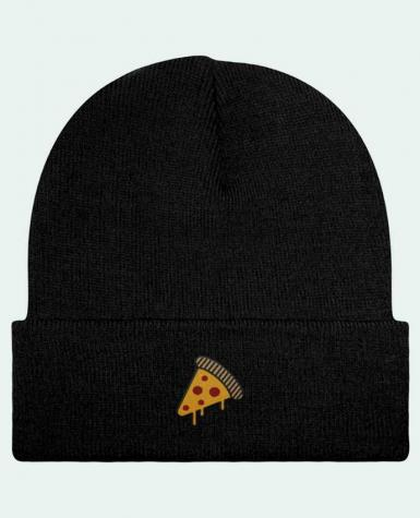 Bonnet Beanie à Revers Pizza slice par tunetoo