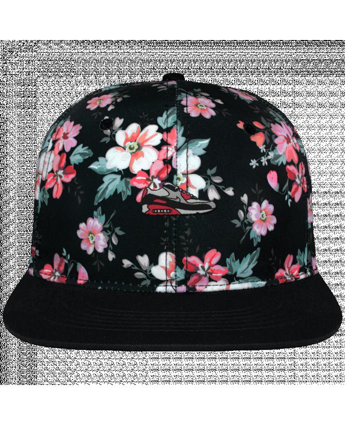 f51a90f15a4 Casquette Snapback Couronne Graphique Floral Noir Air max brodé avec toile  motif à fleurs 100%