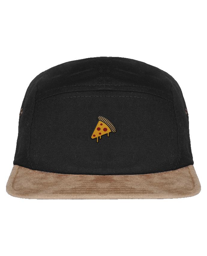Casquette 5 Panneaux Visière Imitation Daim Pizza slice par tunetoo