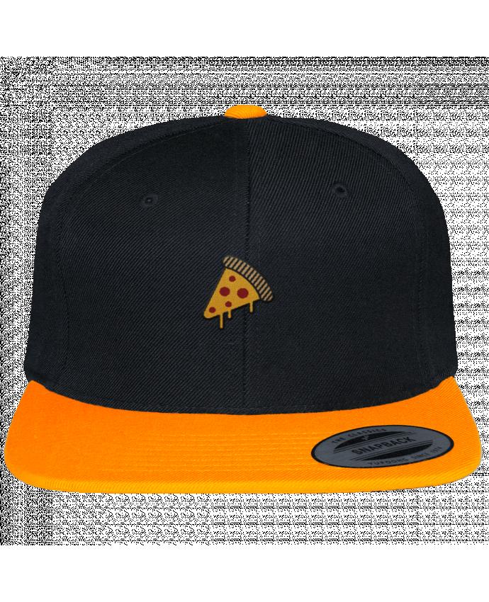 Casquette Snapback Bicolore Varsity Pizza slice par tunetoo