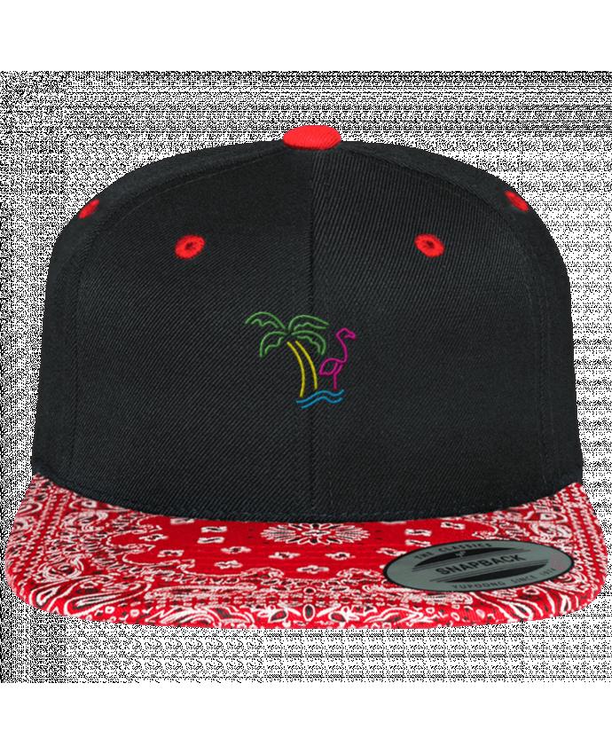 Casquette Snapback Motif Island Flamingo par tunetoo