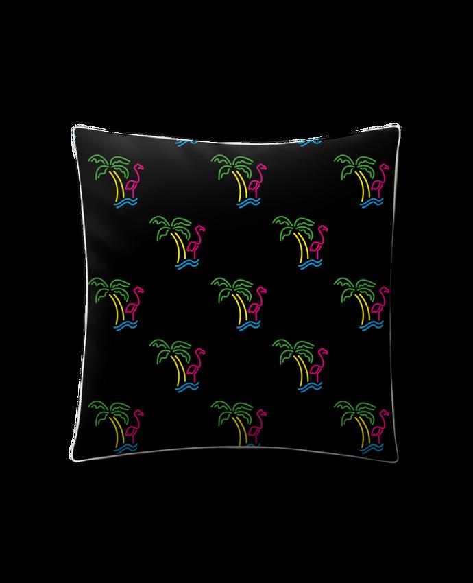 Coussin Toucher Peau de Pêche 41 x 41 cm Island Flamingo par tunetoo