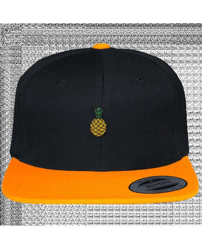 Casquette Snapback Bicolore Varsity Ananas orange par tunetoo