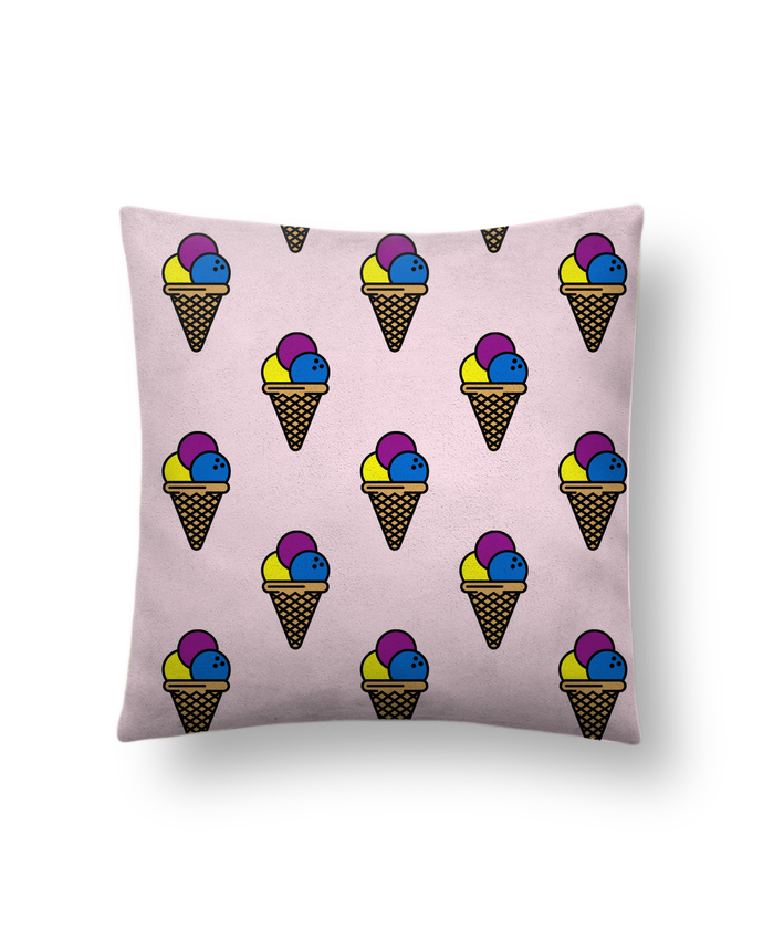 Coussin Toucher Peau de Pêche 41 x 41 cm Ice cream par tunetoo