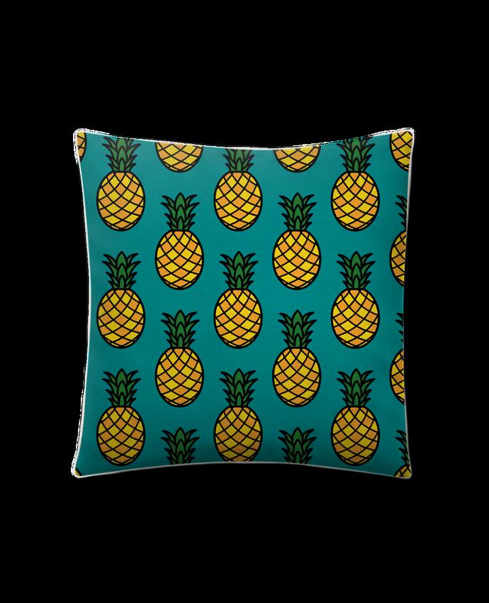 Coussin Toucher Peau de Pêche 41 x 41 cm Ananas orange par tunetoo