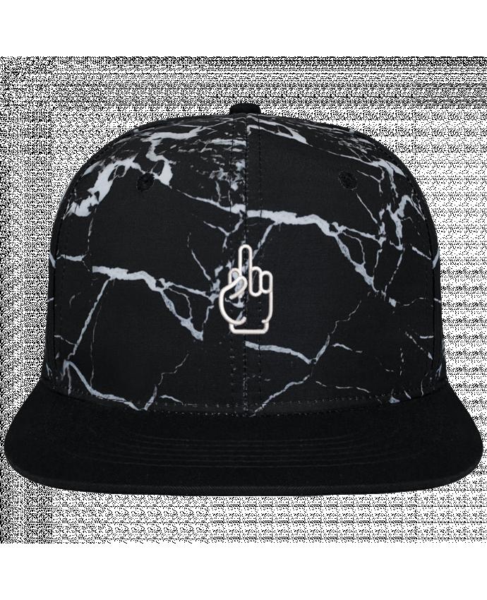 Casquette SnapBack Couronne Graphique Minéral Noir Fuck brodé et toile imprimée motif minéral noir et blanc