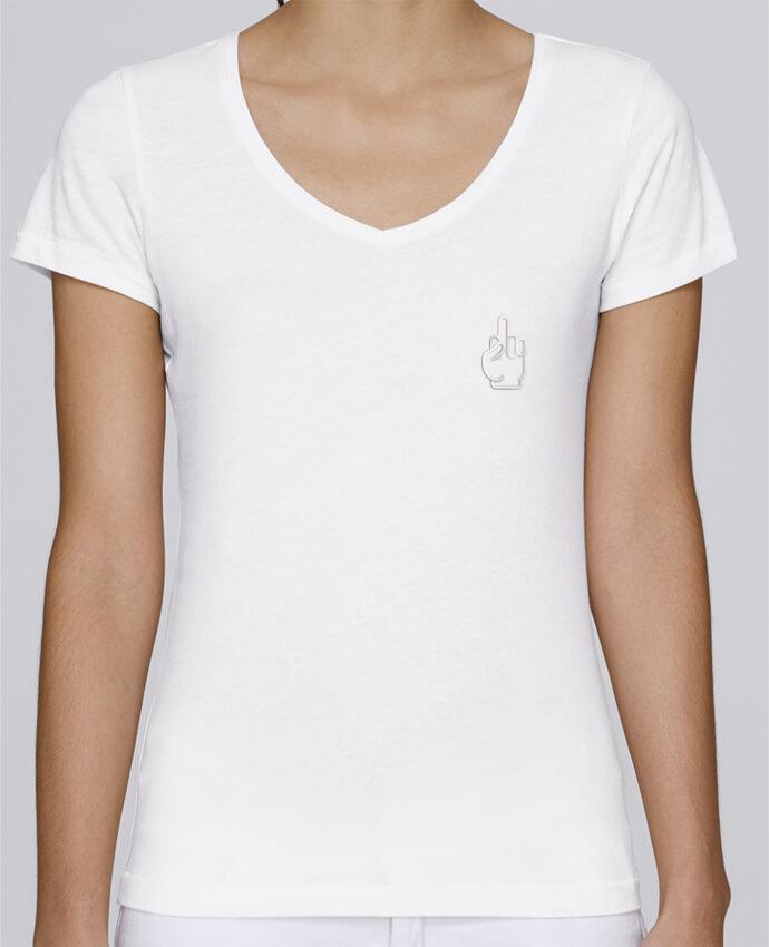 T-shirt femme brodé Stella Chooses Fuck par tunetoo