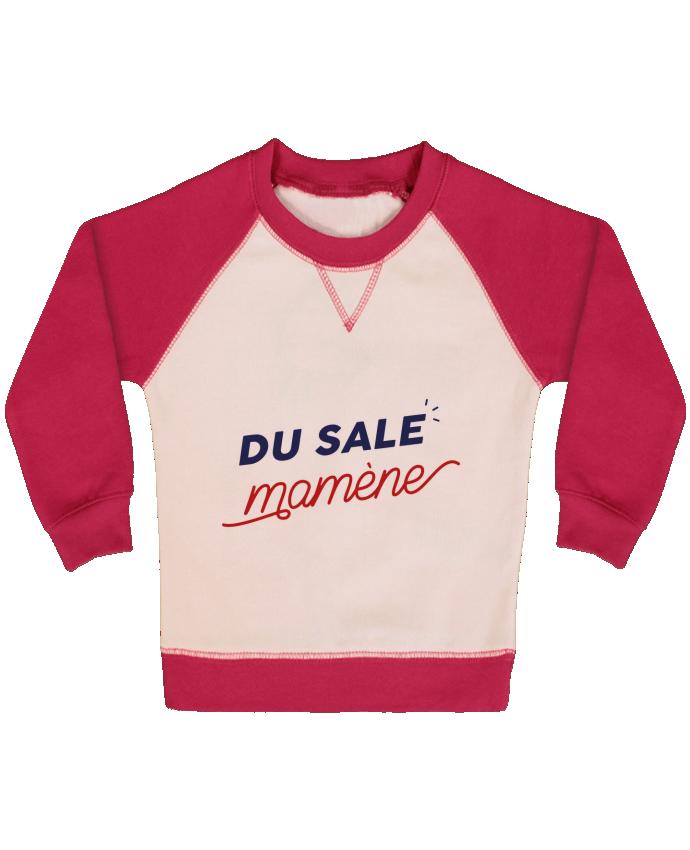 Sweat Shirt Bébé Col Rond Manches Raglan Contrastées du sale mamène by Ruuud par Ruuud