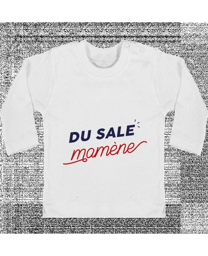 T-shirt Bébé Manches Longues Boutons Pression du sale mamène by Ruuud manches longues du designer Ruuud