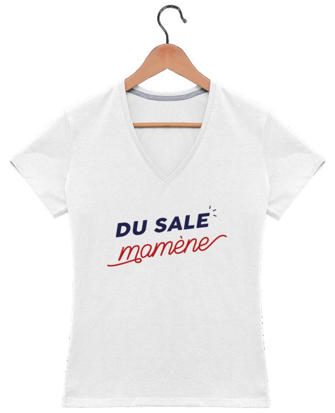 T-shirt Col V Femme 180 gr du sale mamène by Ruuud par Ruuud
