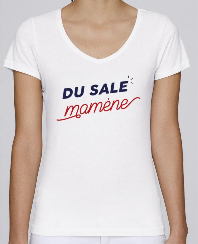 T-shirt Femme Col V Stella Chooses du sale mamène by Ruuud par Ruuud