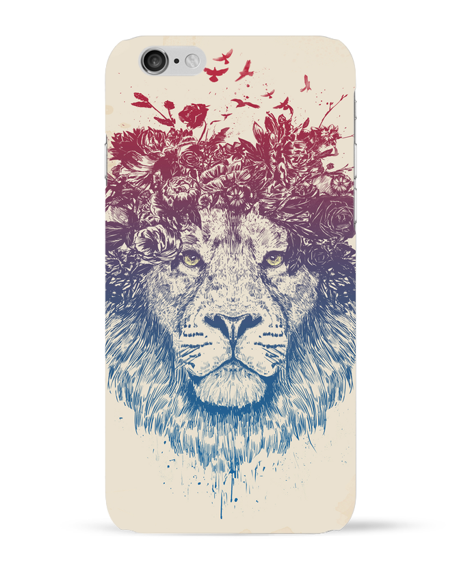 Coque 3D Iphone 6 Floral lion III par Balàzs Solti