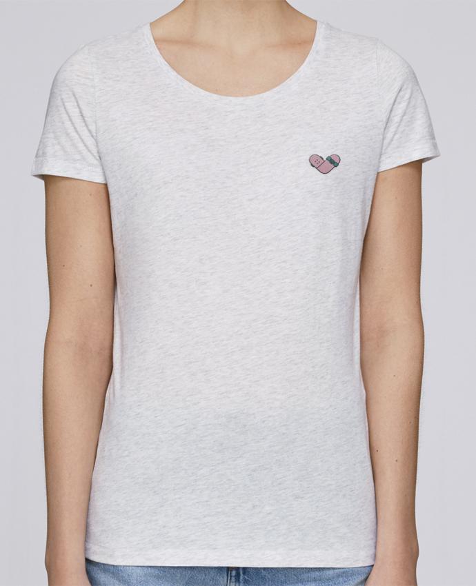 T-shirt  Femme Brodé Coeur skate par tunetoo