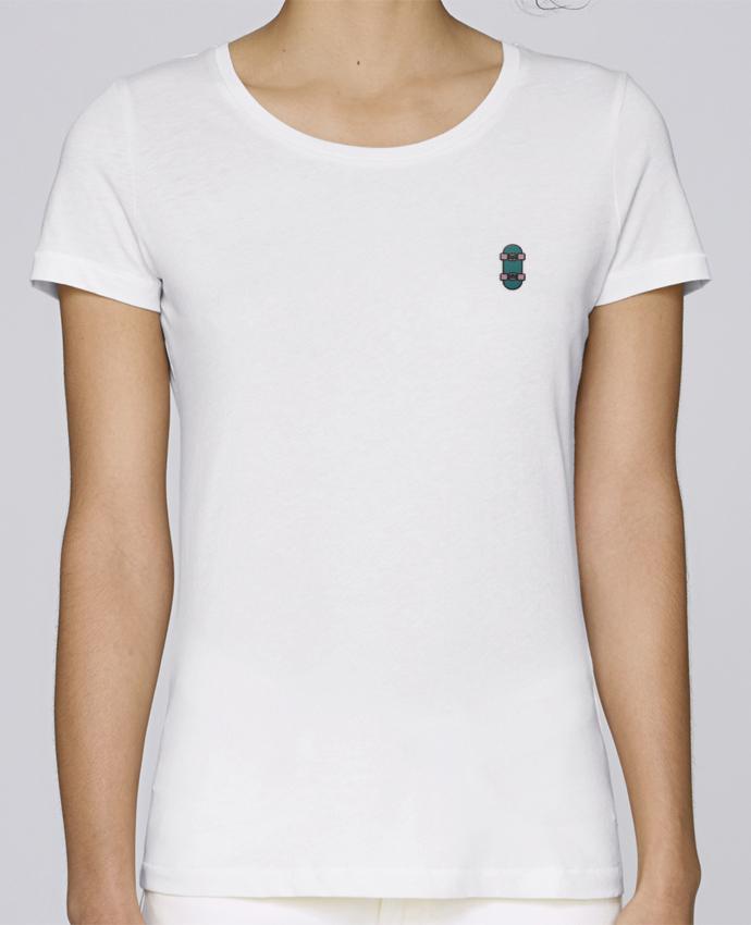 T-shirt  Femme Brodé Skate bleu par tunetoo
