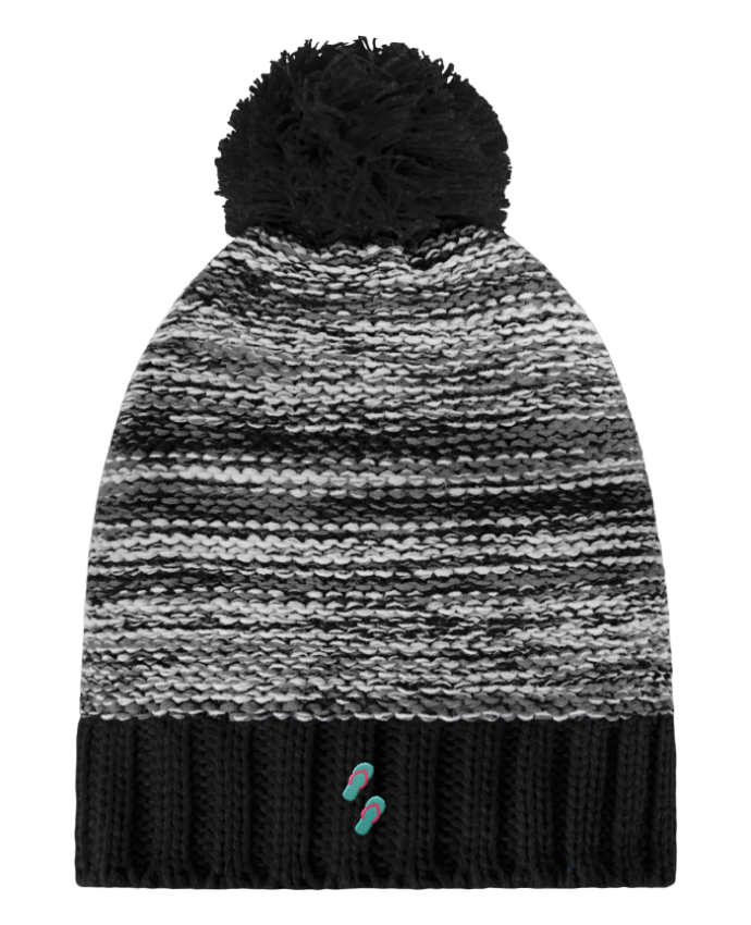 Bonnet Pompon Slalom Boarder Tongues par tunetoo