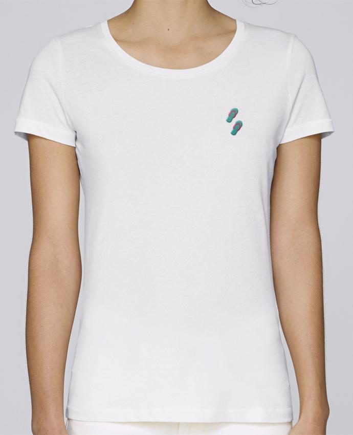 T-shirt  Femme Brodé Tongues par tunetoo