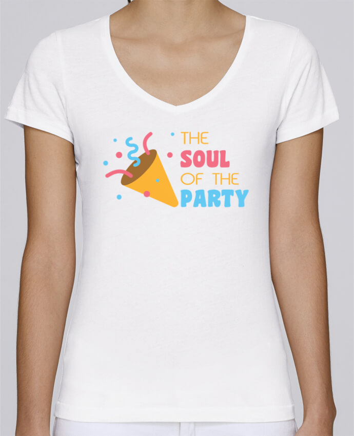 T-shirt Femme Col V Stella Chooses The soul of the party par tunetoo
