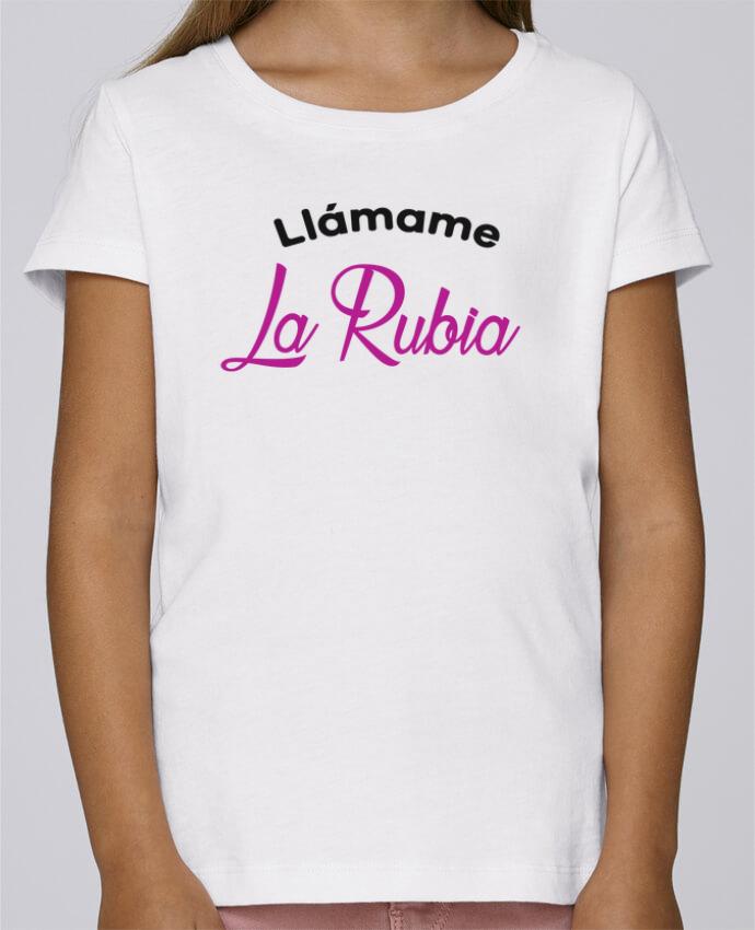 T-shirt Fille Mini Stella Draws Llámame La Rubia par tunetoo