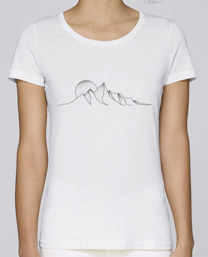 T-shirt Femme Stella Loves mountain draw par /wait-design