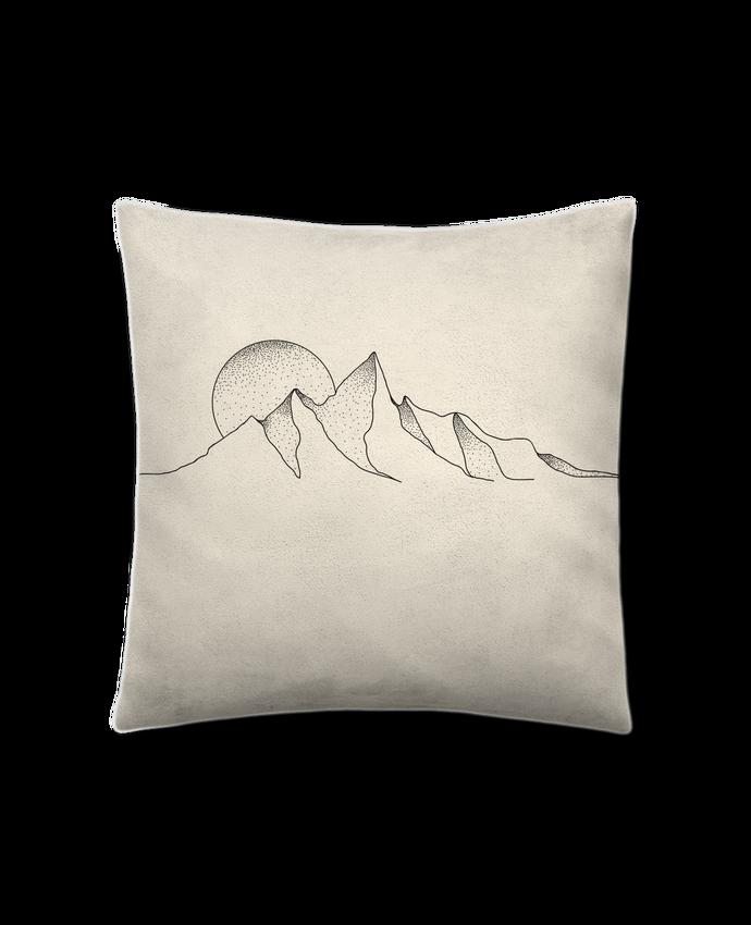 Coussin Toucher Peau de Pêche 41 x 41 cm mountain draw par /wait-design