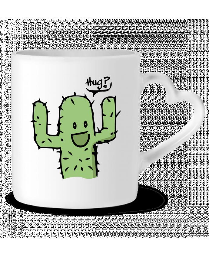 Mug Coeur cactus calin gratuit par Tête Au Carré