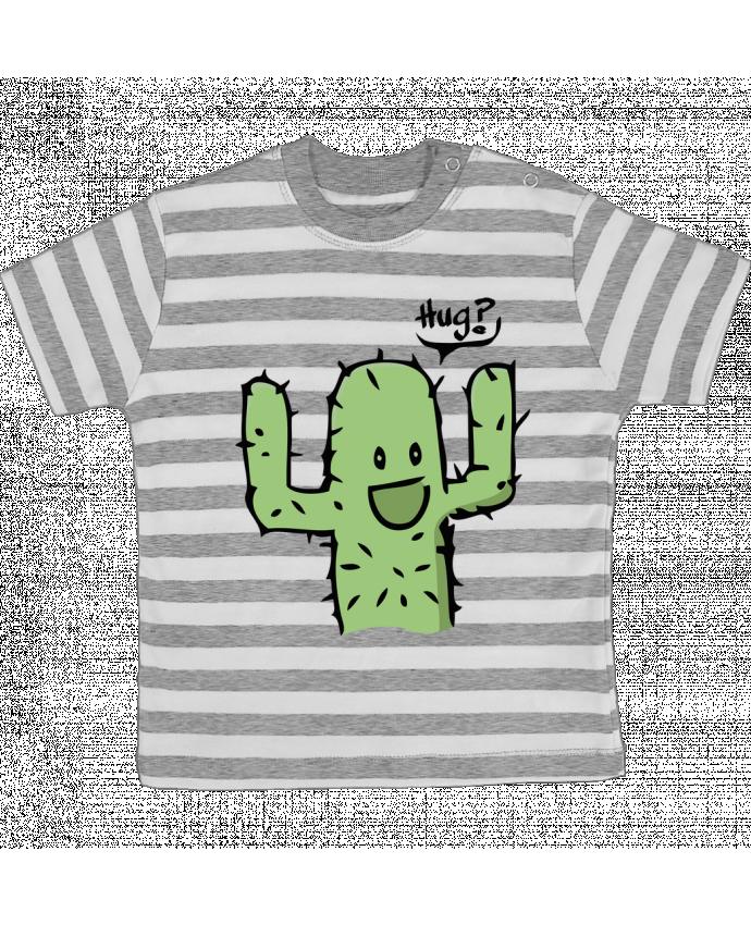 T-shirt Bébé à Rayures cactus calin gratuit par Tête Au Carré