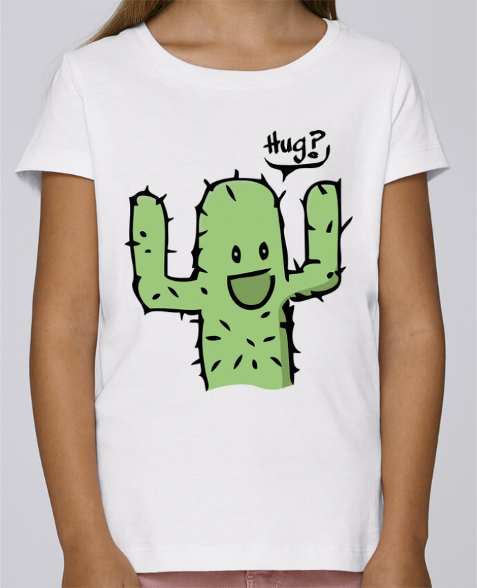 T-shirt Fille Mini Stella Draws cactus calin gratuit par Tête Au Carré