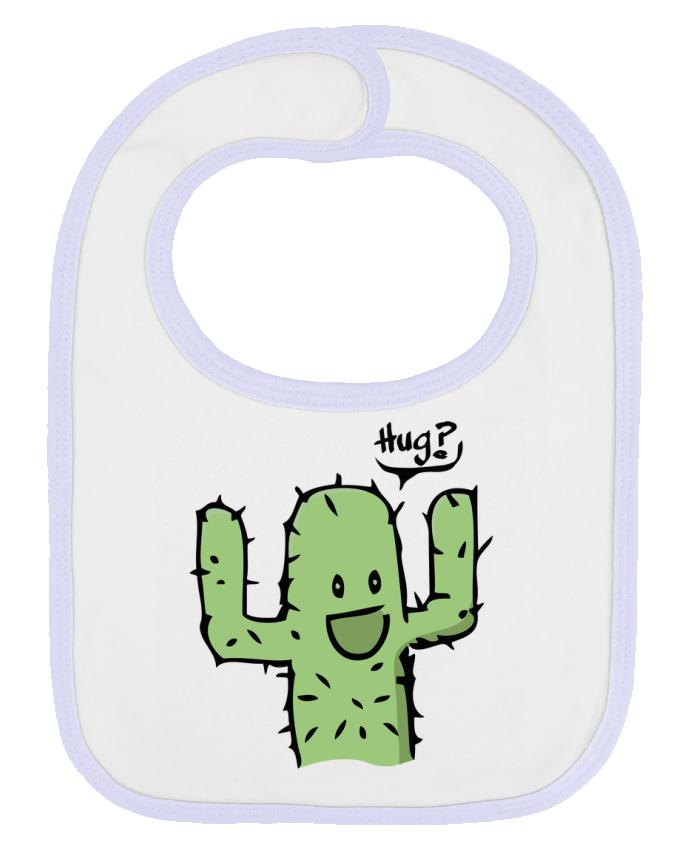 Bavoir bébé uni cactus calin gratuit par Tête Au Carré