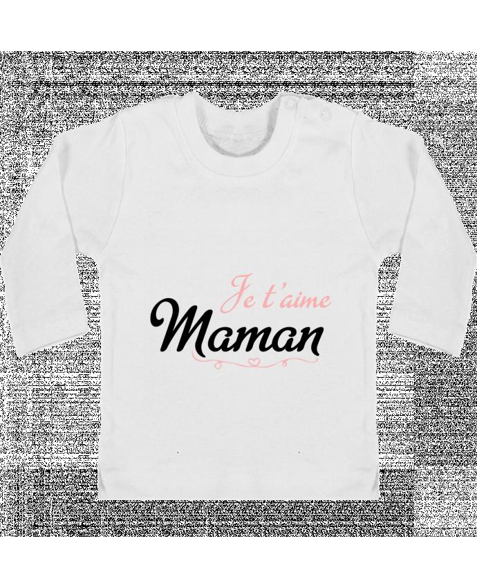 T-shirt Bébé Manches Longues Boutons Pression Je t'aime Maman manches longues du designer tunetoo