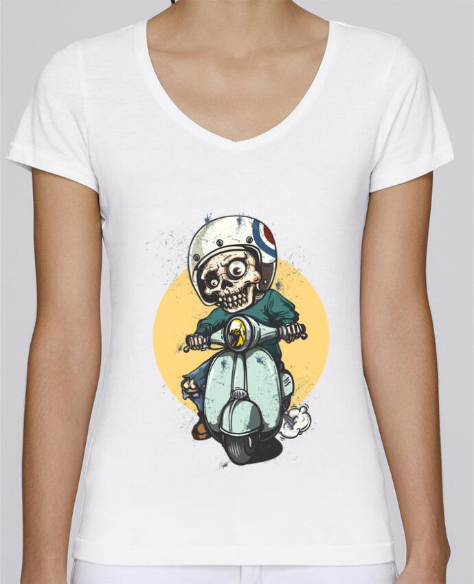 T-shirt Femme Col V Stella Chooses art design par omgraphiste