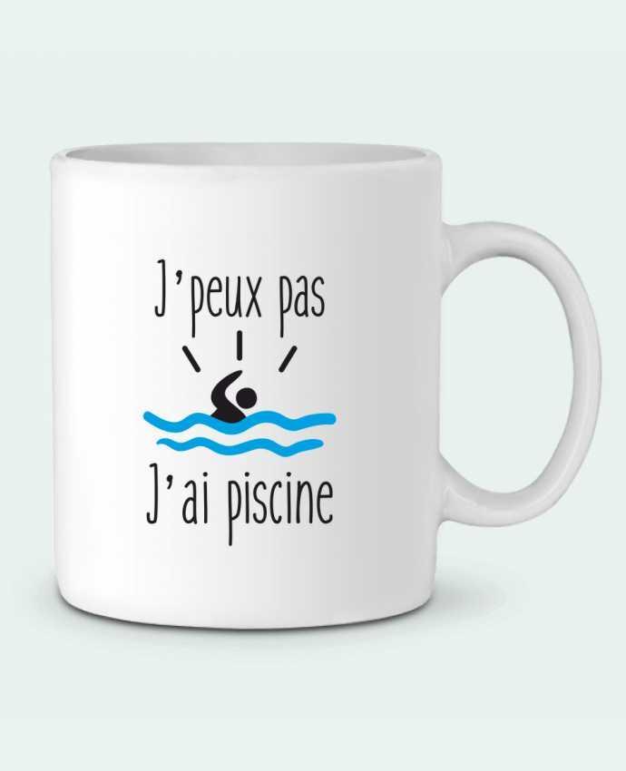 Mug en Céramique J'peux pas j'ai piscine par Benichan