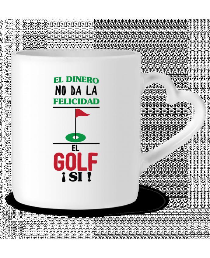 Mug Coeur El dinero no da la felicidad, el golf si ! par tunetoo