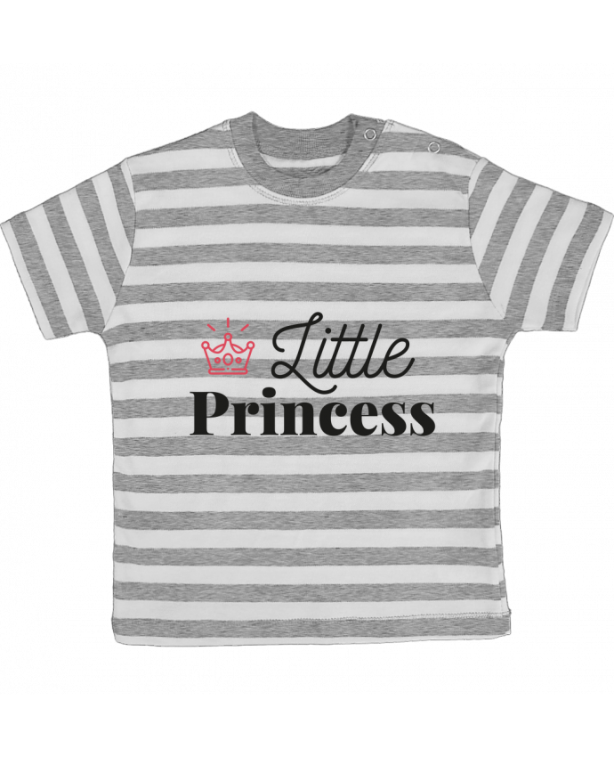 T-shirt Bébé à Rayures Little princess par arsen