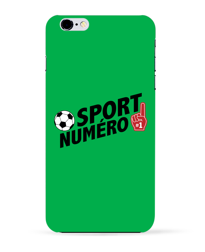 Coque 3D Iphone 6+ Sport numéro 1 Football de tunetoo
