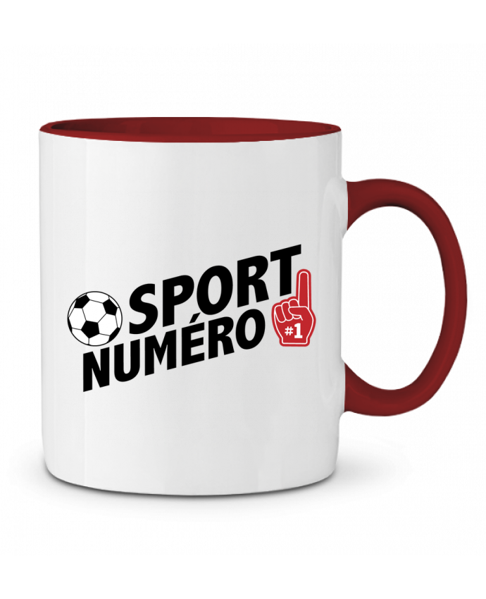 Mug en Céramique Bicolore Sport numéro 1 Football tunetoo