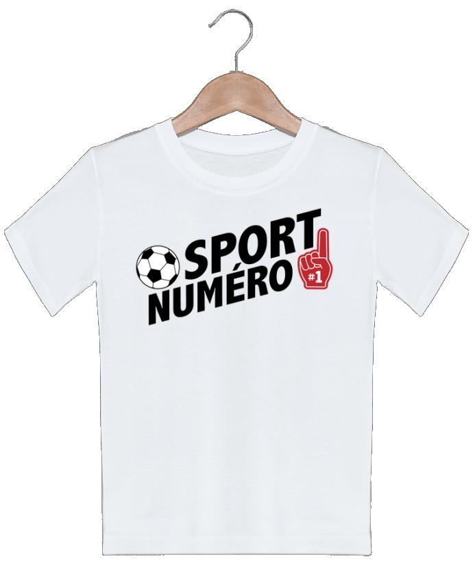 T-shirt garçon motif Sport numéro 1 Football tunetoo